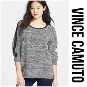 Two by Vince camuto leather trimmed sweater size M